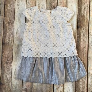 Gap Shimmery Eyelet Special Occasion Dress